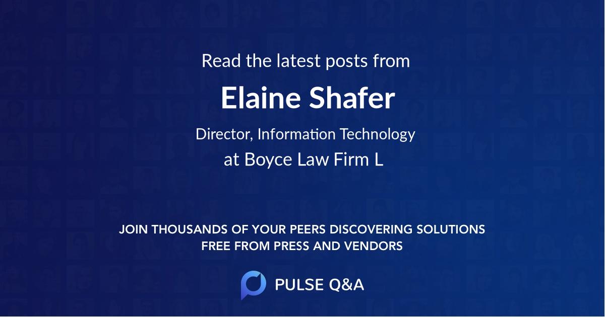 Elaine Shafer