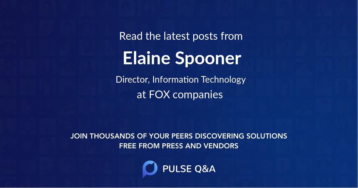 Elaine Spooner