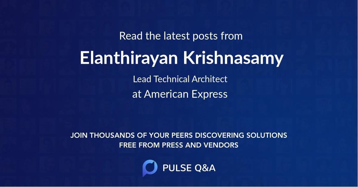 Elanthirayan Krishnasamy