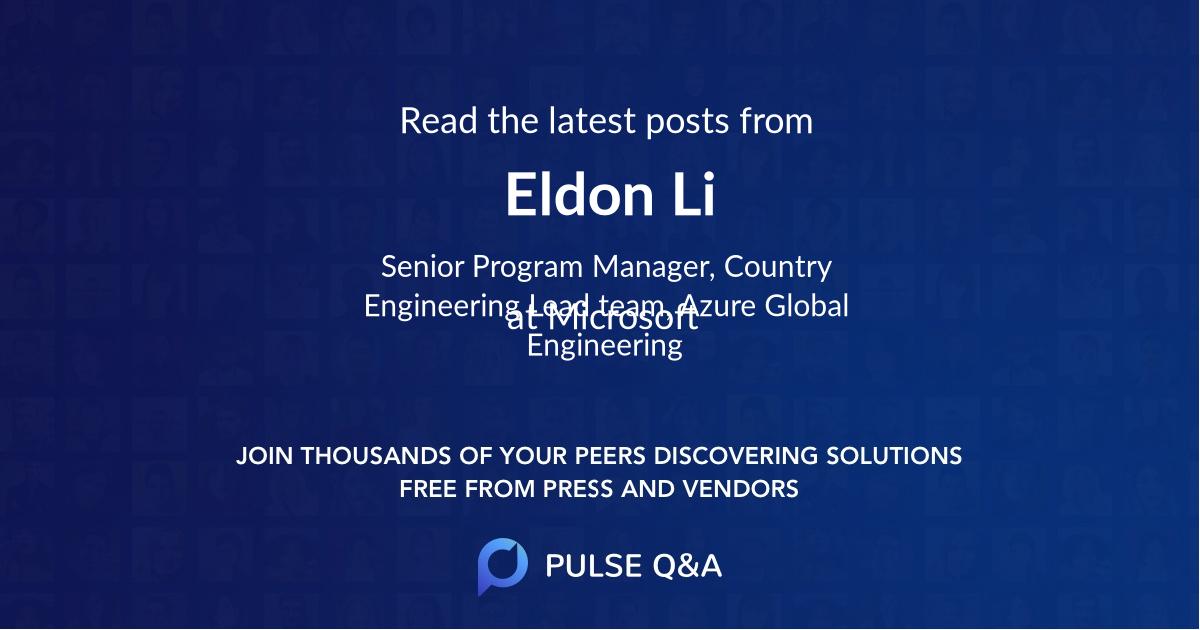 Eldon Li