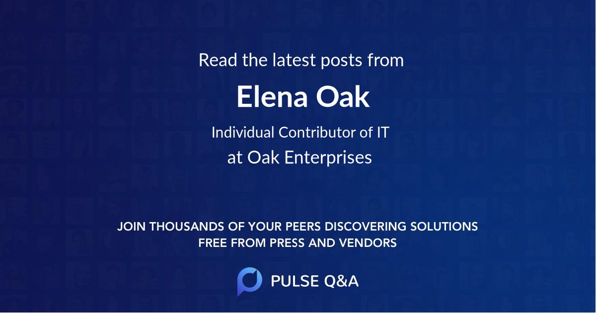 Elena Oak