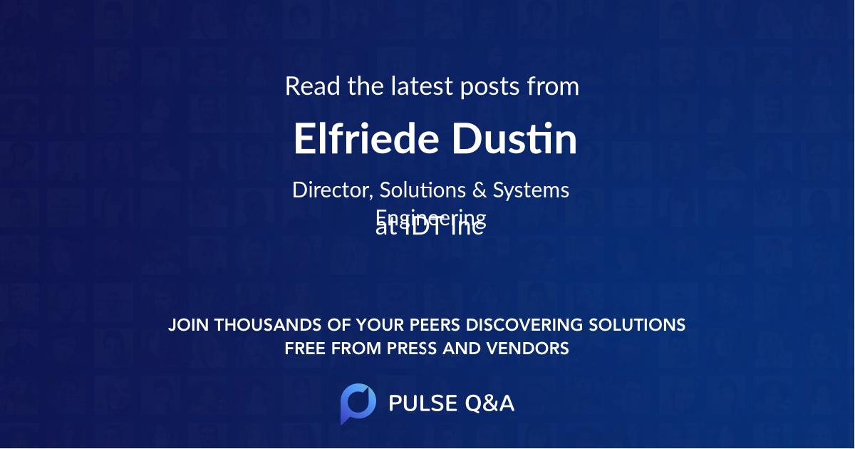 Elfriede Dustin