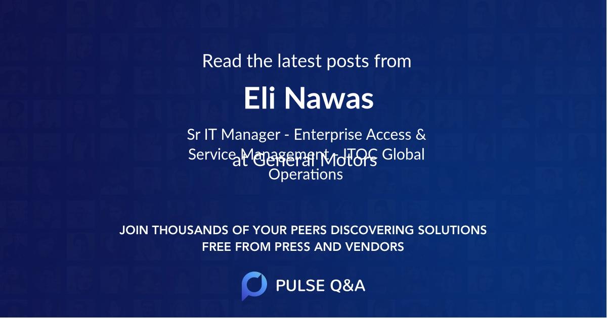 Eli Nawas