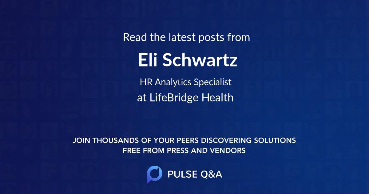 Eli Schwartz