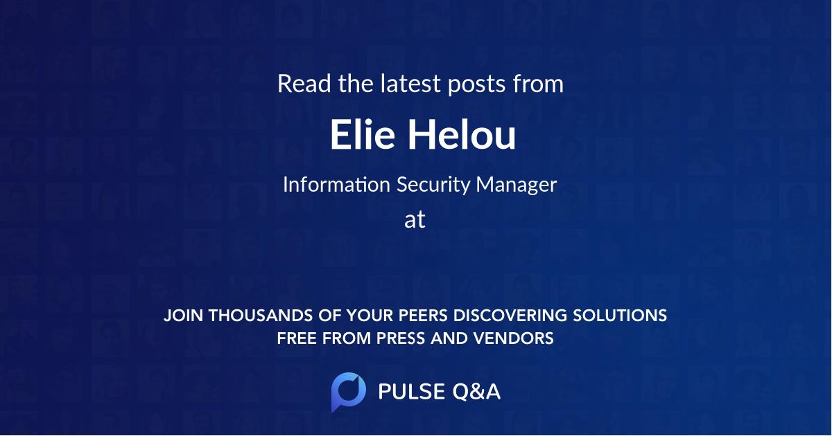 Elie Helou