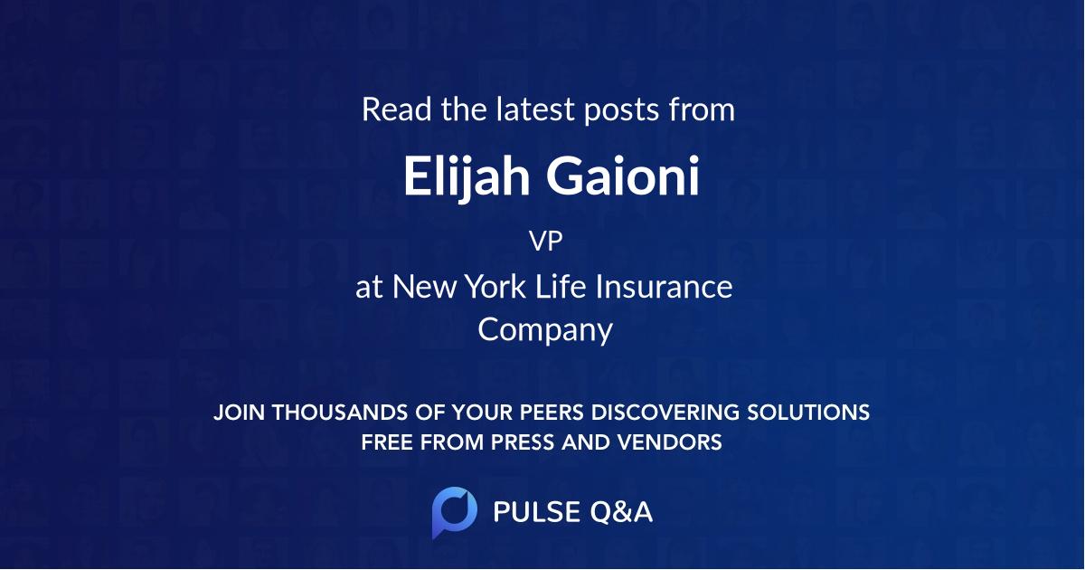 Elijah Gaioni