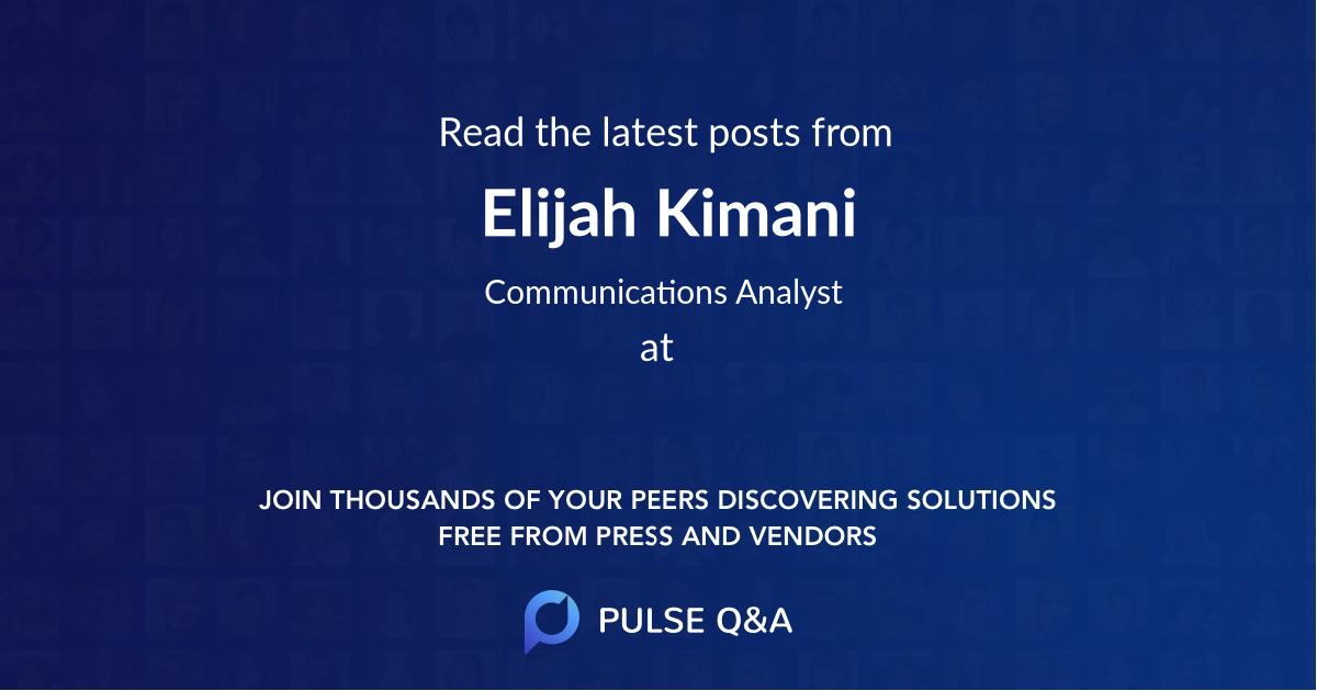 Elijah Kimani