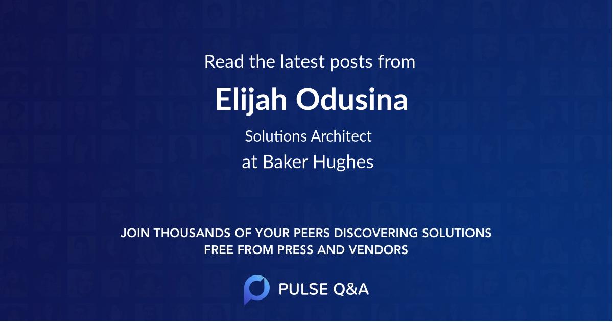 Elijah Odusina