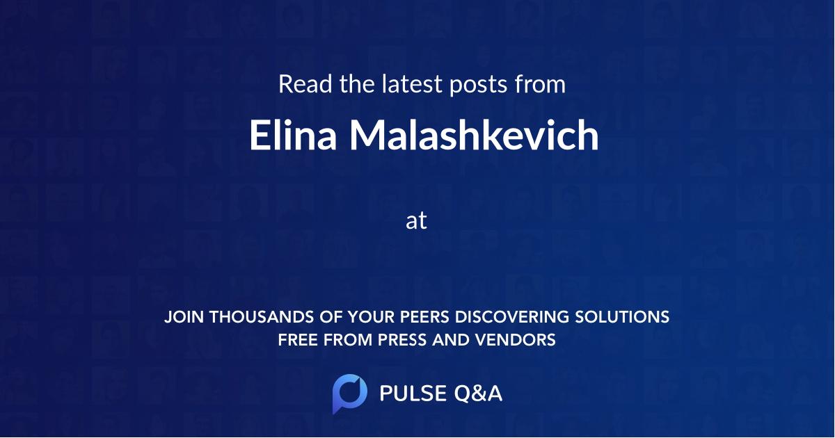 Elina Malashkevich