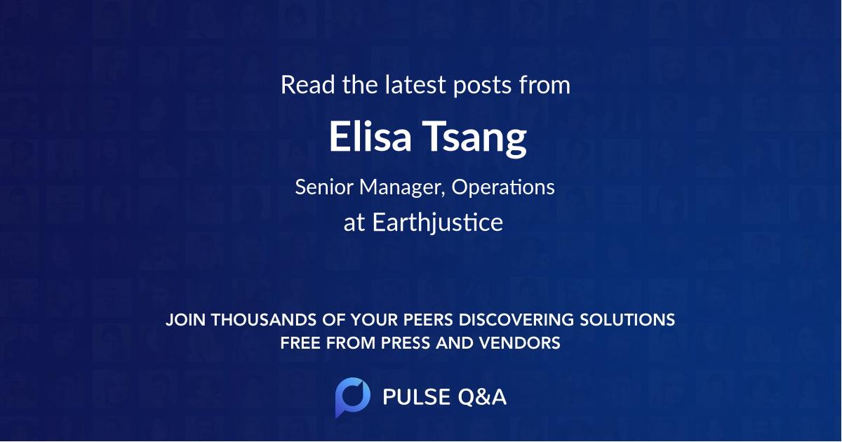 Elisa Tsang