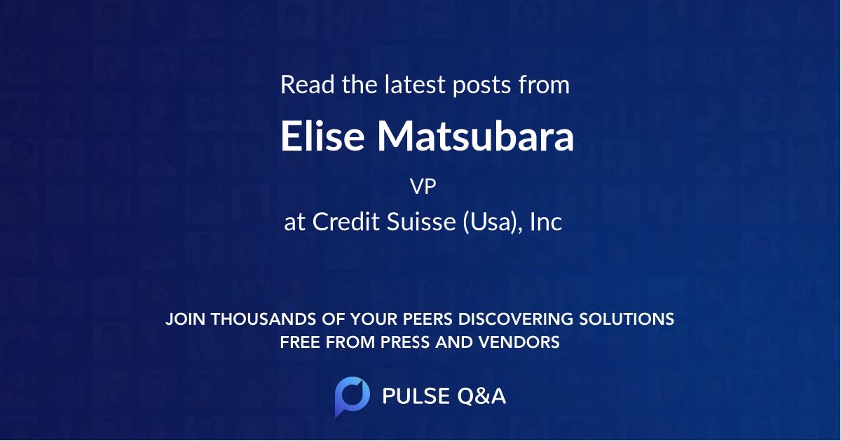 Elise Matsubara