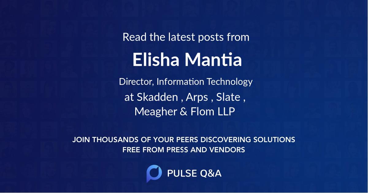 Elisha Mantia
