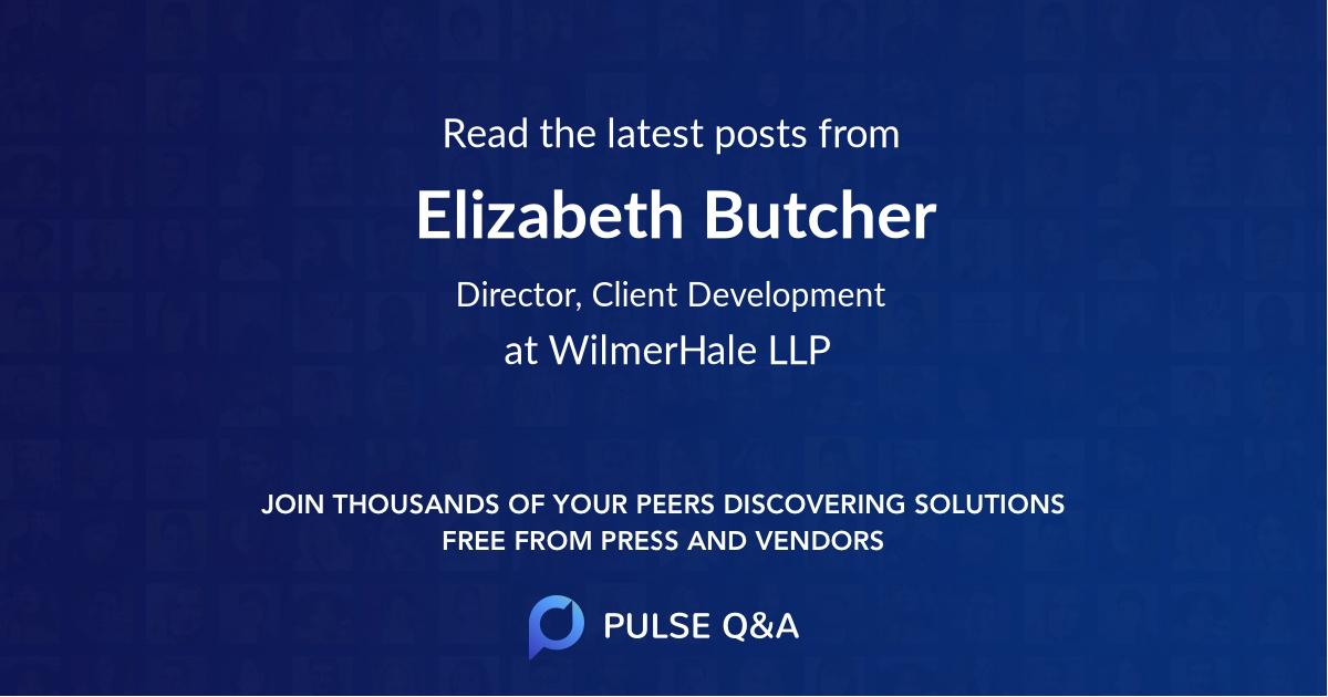 Elizabeth Butcher