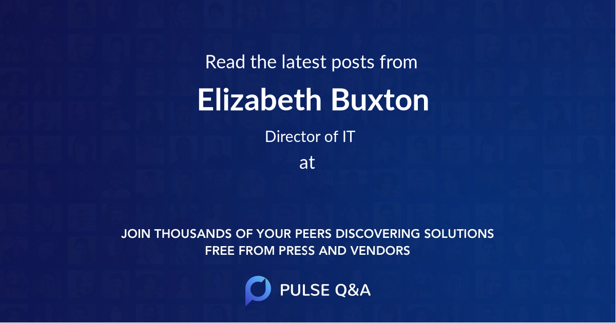 Elizabeth Buxton