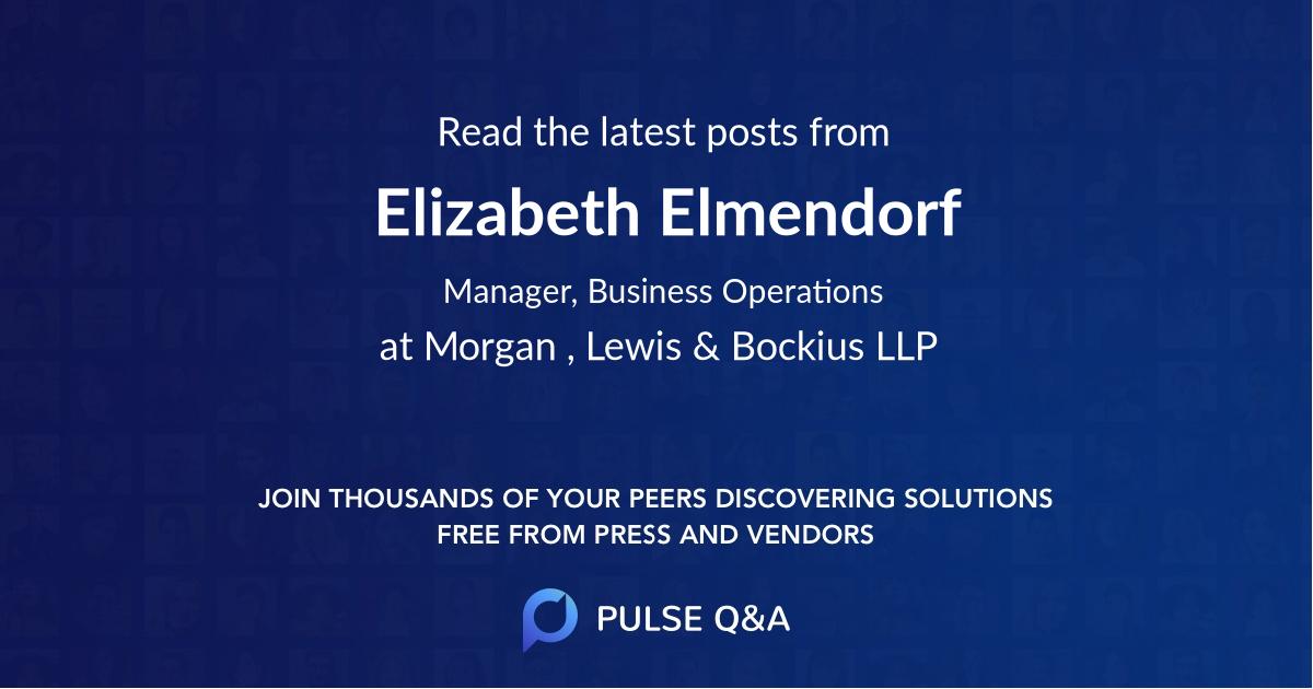 Elizabeth Elmendorf