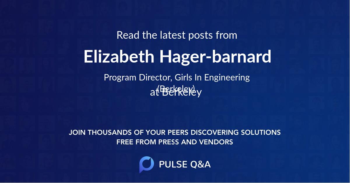 Elizabeth Hager-barnard