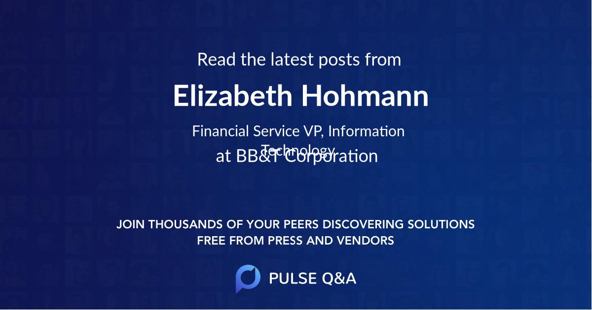Elizabeth Hohmann