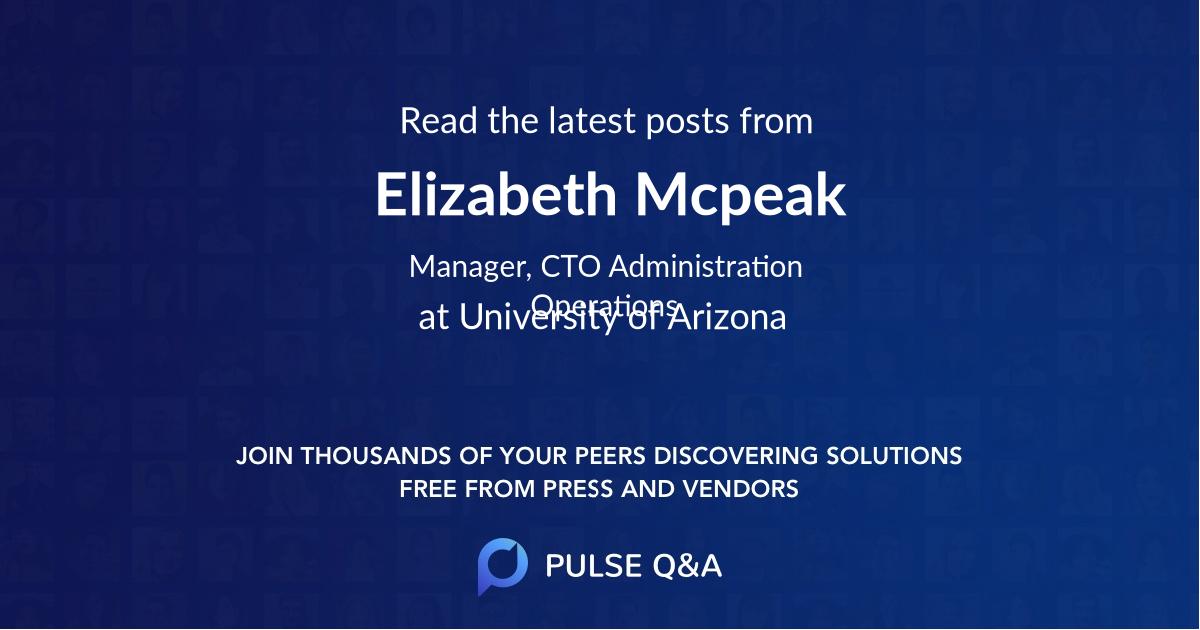 Elizabeth Mcpeak
