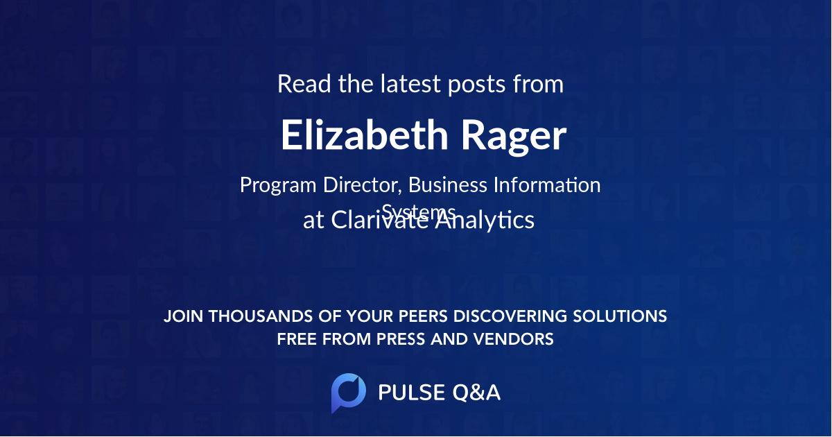 Elizabeth Rager