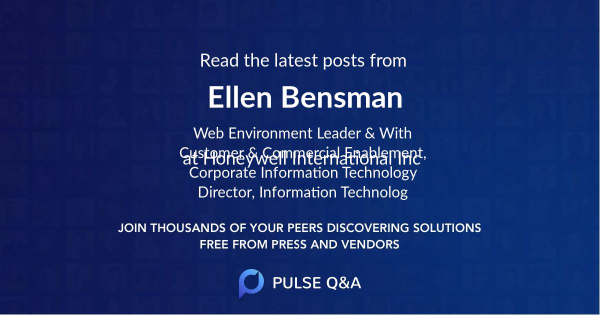 Ellen Bensman