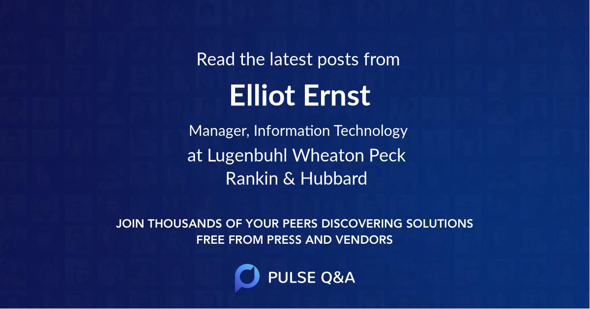 Elliot Ernst