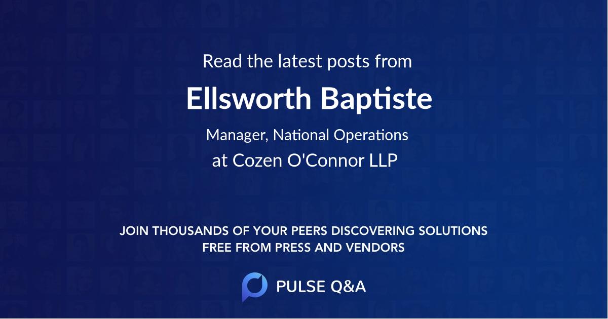 Ellsworth Baptiste