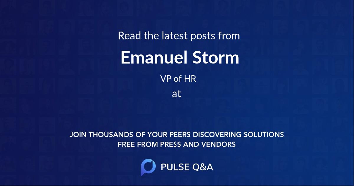 Emanuel Storm