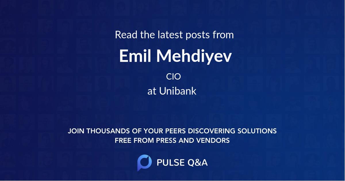 Emil Mehdiyev
