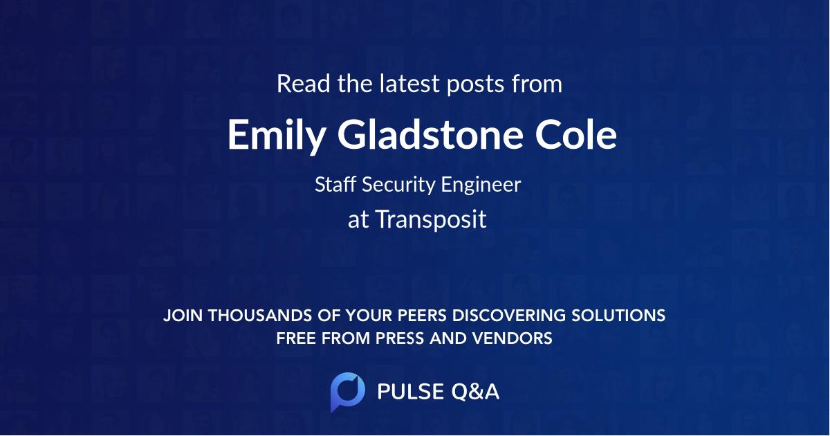 Emily Gladstone Cole