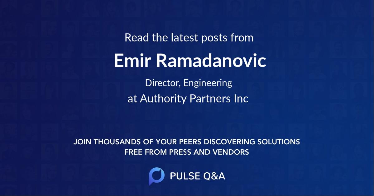 Emir Ramadanovic