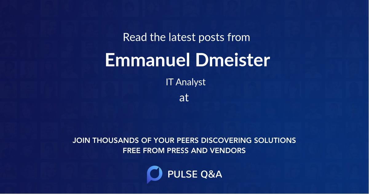 Emmanuel Dmeister
