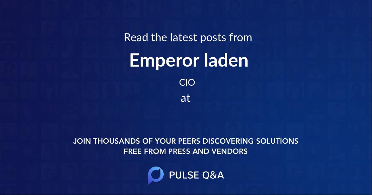 Emperor laden
