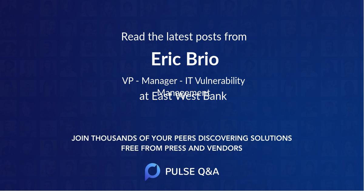 Eric Brio