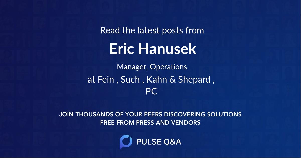 Eric Hanusek