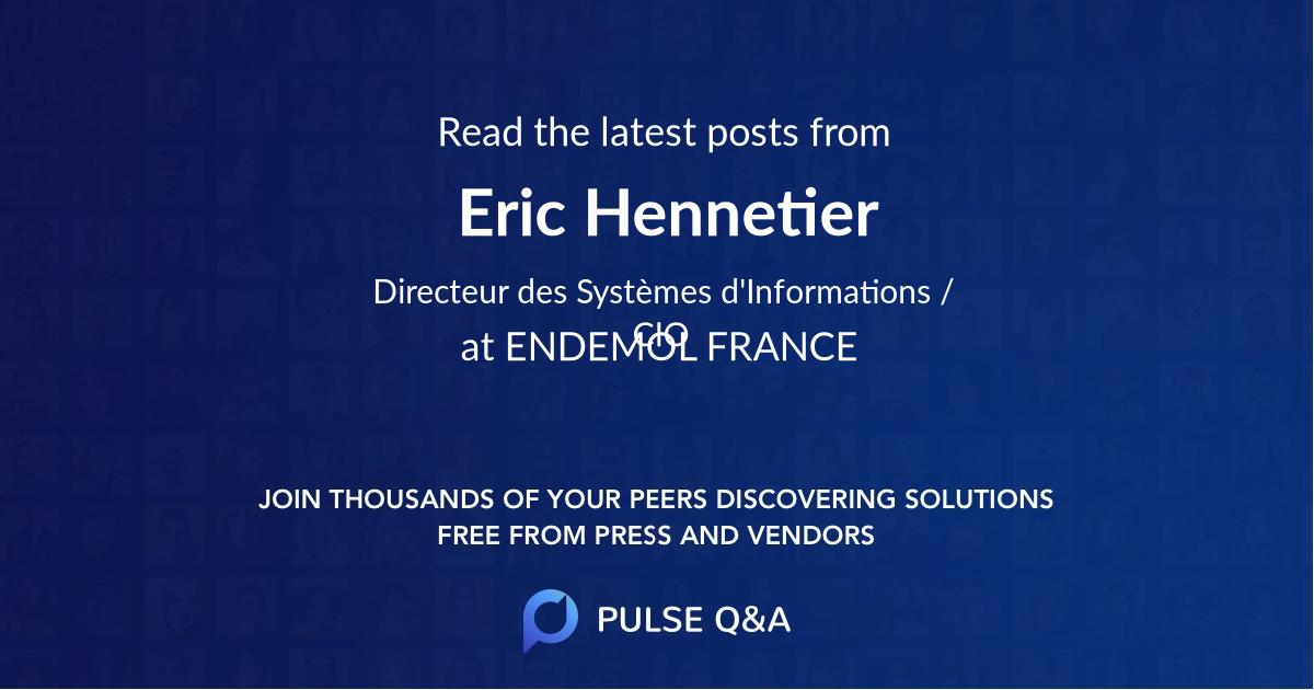 Eric Hennetier