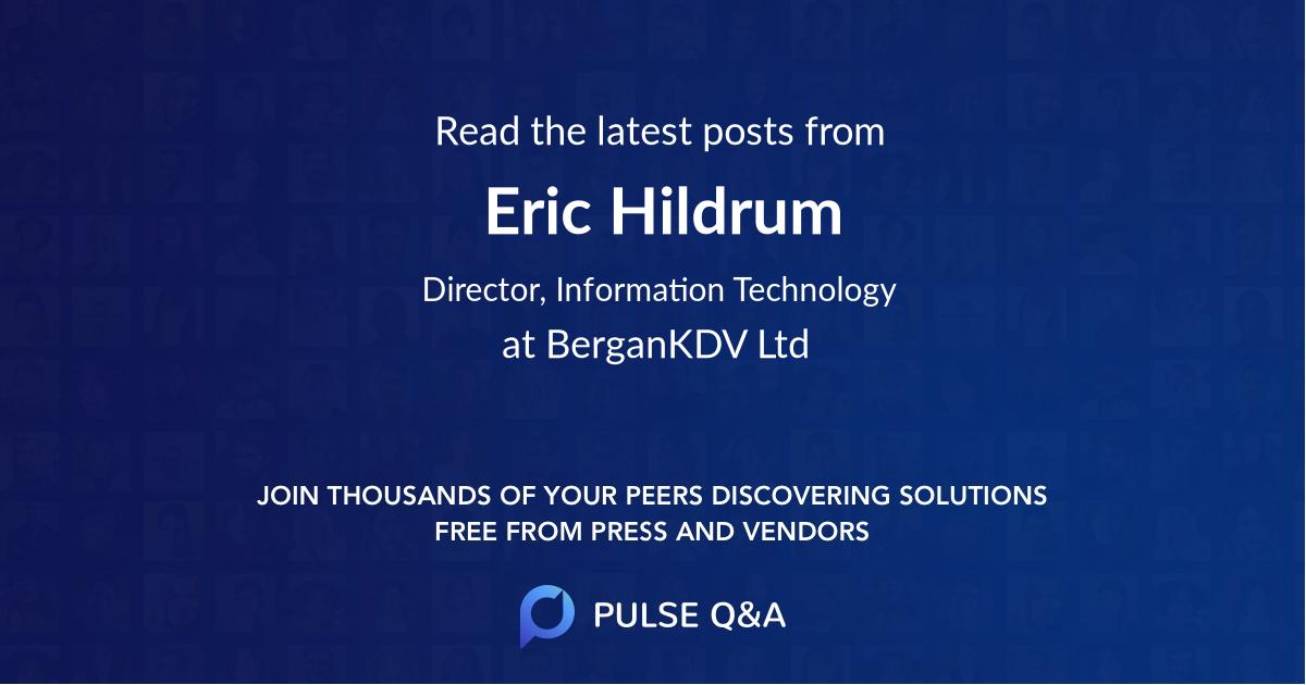 Eric Hildrum