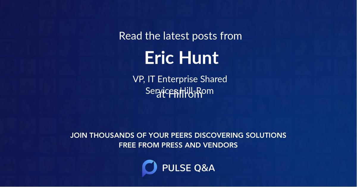 Eric Hunt