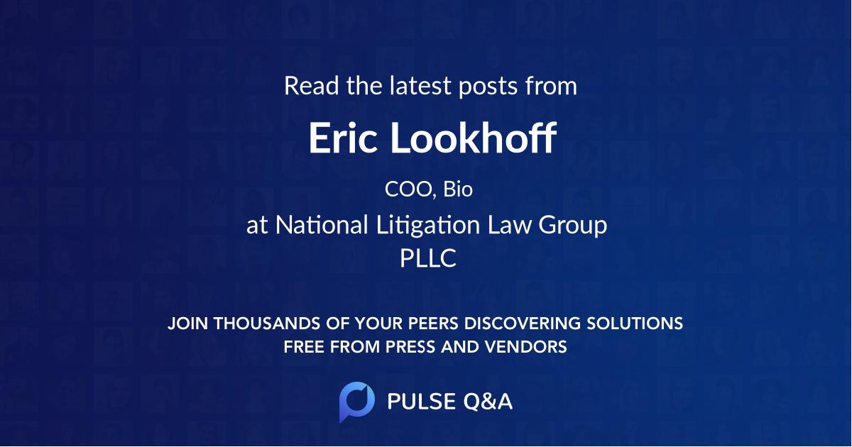 Eric Lookhoff
