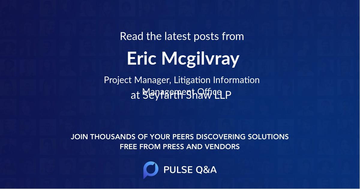 Eric Mcgilvray