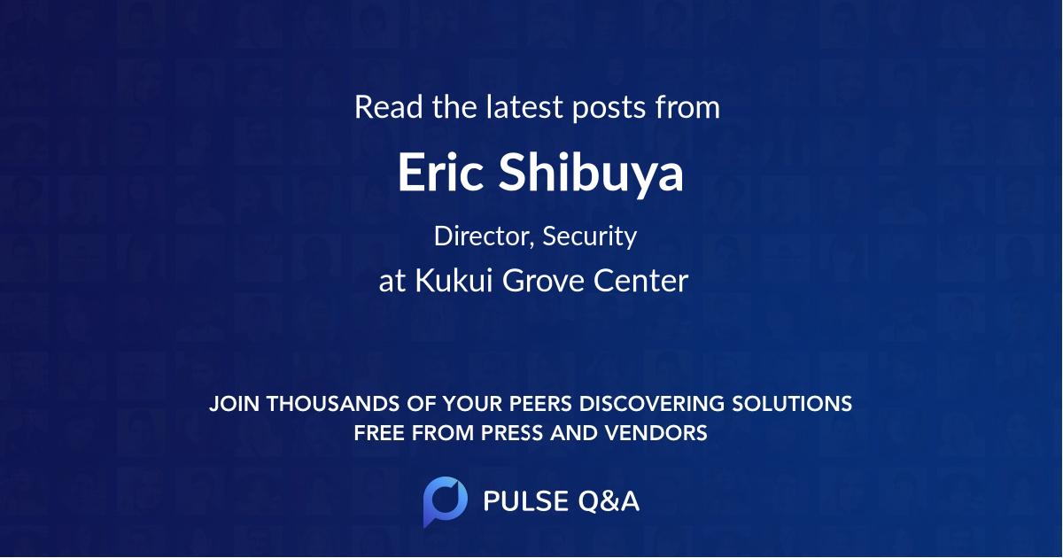 Eric Shibuya
