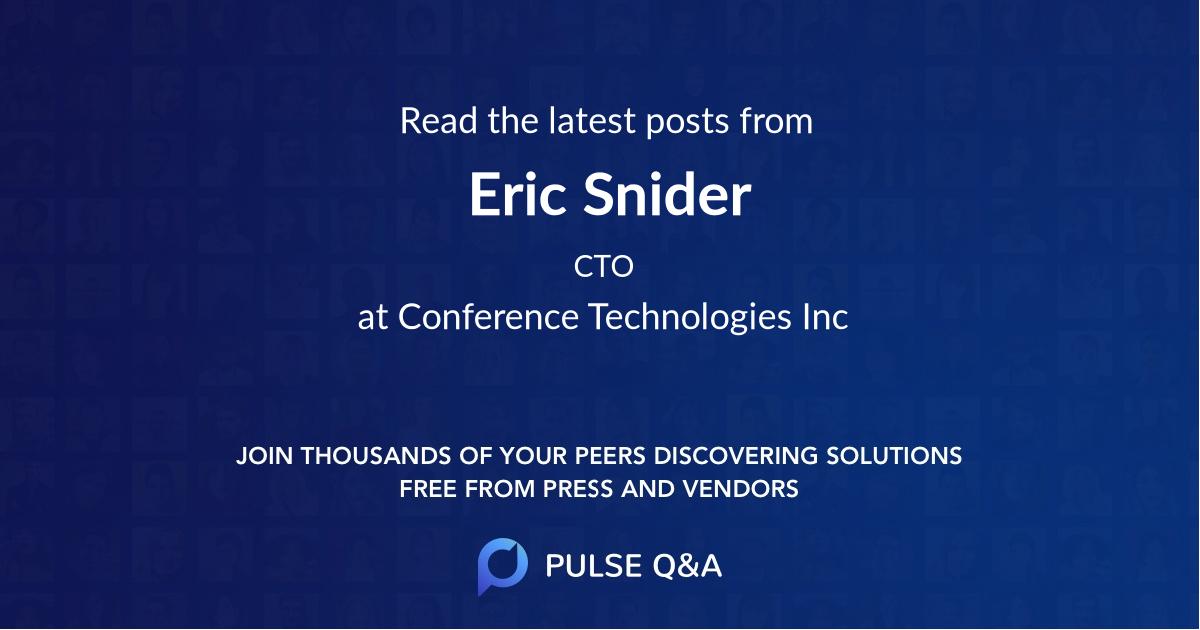 Eric Snider