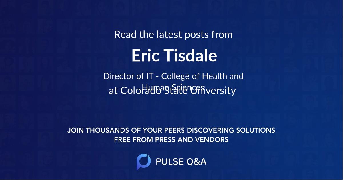 Eric Tisdale