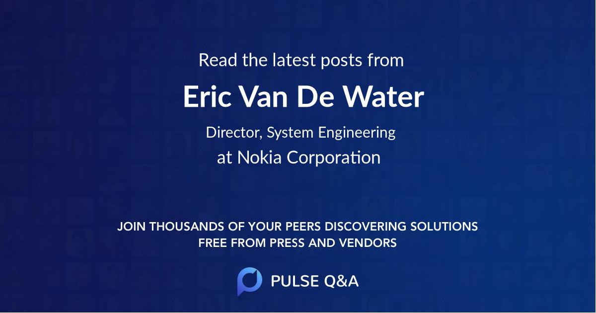 Eric Van De Water