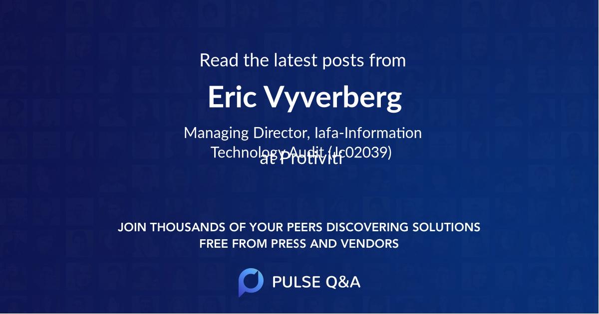 Eric Vyverberg