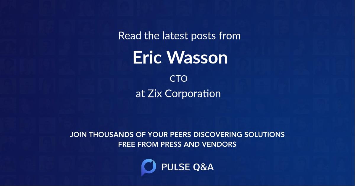 Eric Wasson