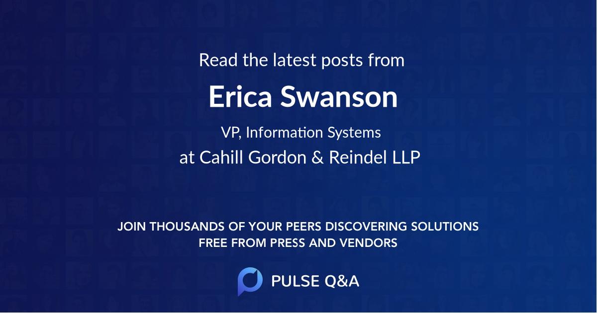 Erica Swanson