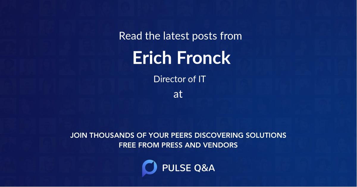 Erich Fronck