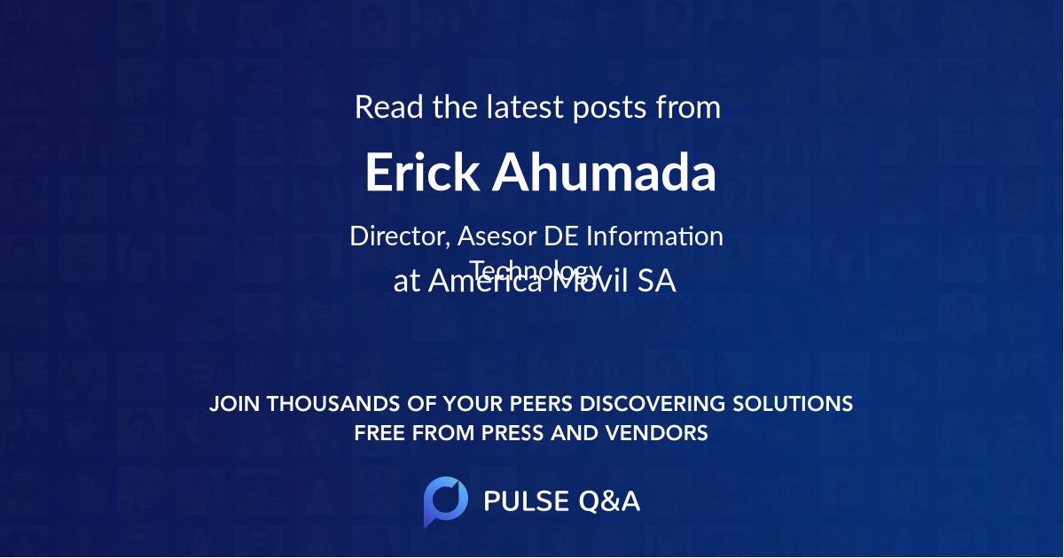 Erick Ahumada