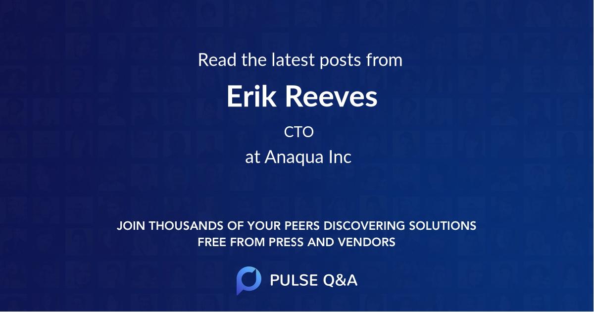 Erik Reeves