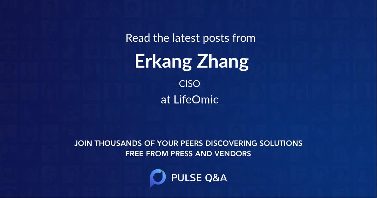Erkang Zhang